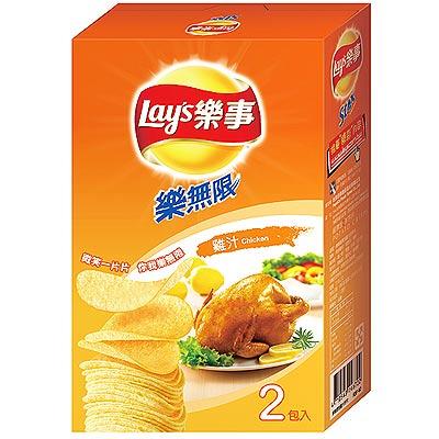 Lay's 樂事《樂無限》雞汁口味洋芋片(110g/盒)
