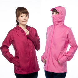 抗UV吸濕排汗囗罩式連帽防曬外套