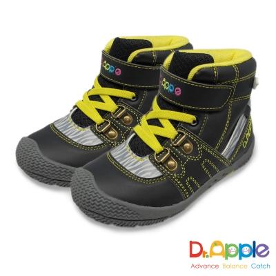 Dr. Apple 機能童鞋 斑馬紋帥氣大人風短筒童靴 黑