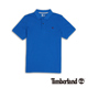Timberland 男款藍色素面刺繡短袖P