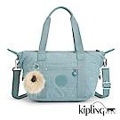 Kipling 手提包 紋路質感淺藍-小
