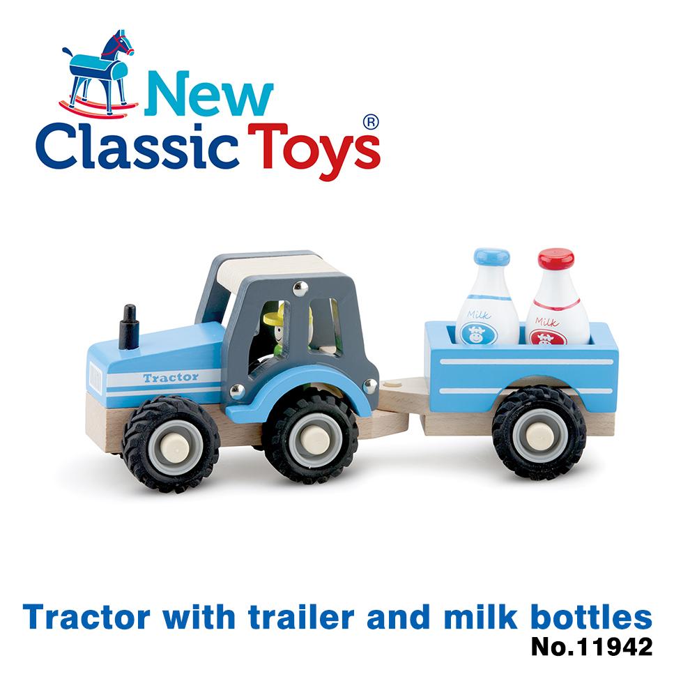 【荷蘭New Classic Toys】牛奶牧場拖拉車 - 11942