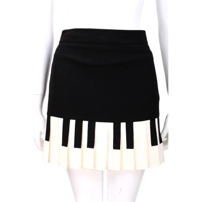MOSCHINO 黑色鋼琴造型百褶裙