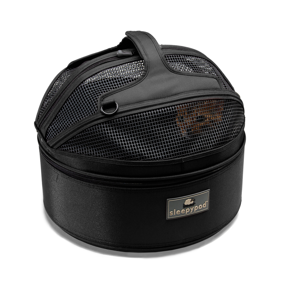 Sleepypod 寵物旅者家旅雙用圓筒包-黑