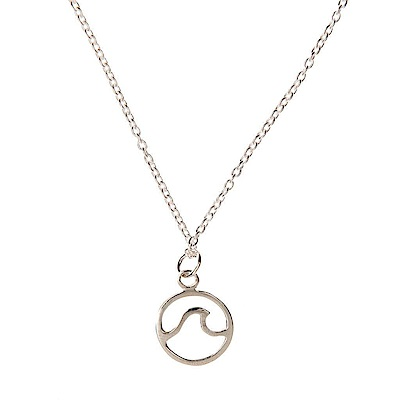 Pura Vida 美國手工 SILVER WAVE 波浪造型 純銀項鍊