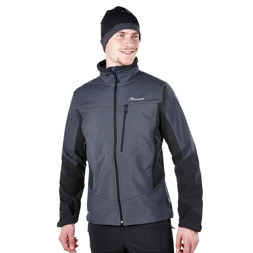 【Berghaus貝豪斯】男款WS溫度調節防風軟殼衣外套H22MT6-灰