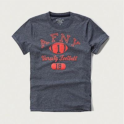 A&F 經典印刷文字圖案短袖T恤-深藍色 AF Abercrombie