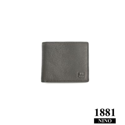 NINO1881- 男人系列雅痞短夾 - 灰 (馬毛紋)