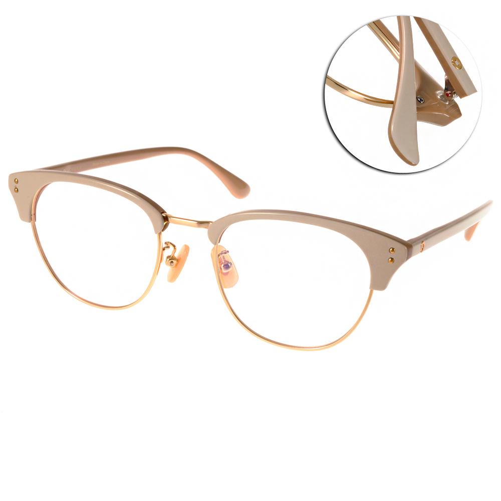 NINE ACCORD眼鏡 貓眼大圓框/白-金#LENTOP AKI C04
