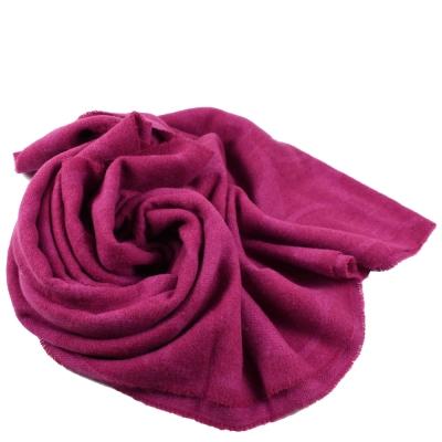 COACH 鬚鬚大LOGO造型長型圍巾(桃紅)