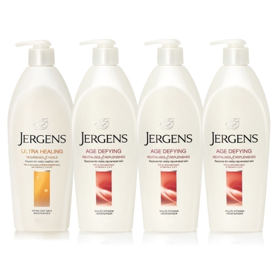 JERGENS珍柔 美體護膚保濕乳液650ml-長效配方x1+維他命x3
