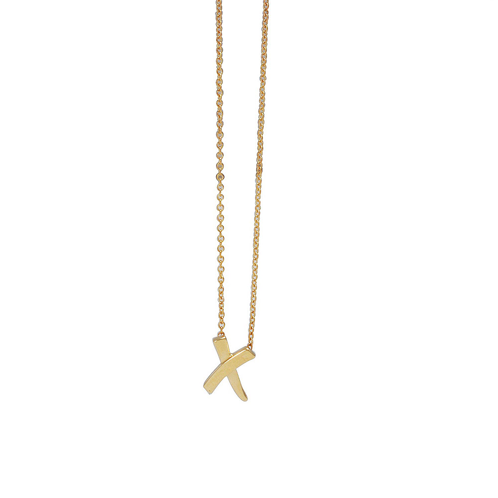 TIFFANY&Co. Paloma Picasso系列X墜飾925純銀K金項鍊