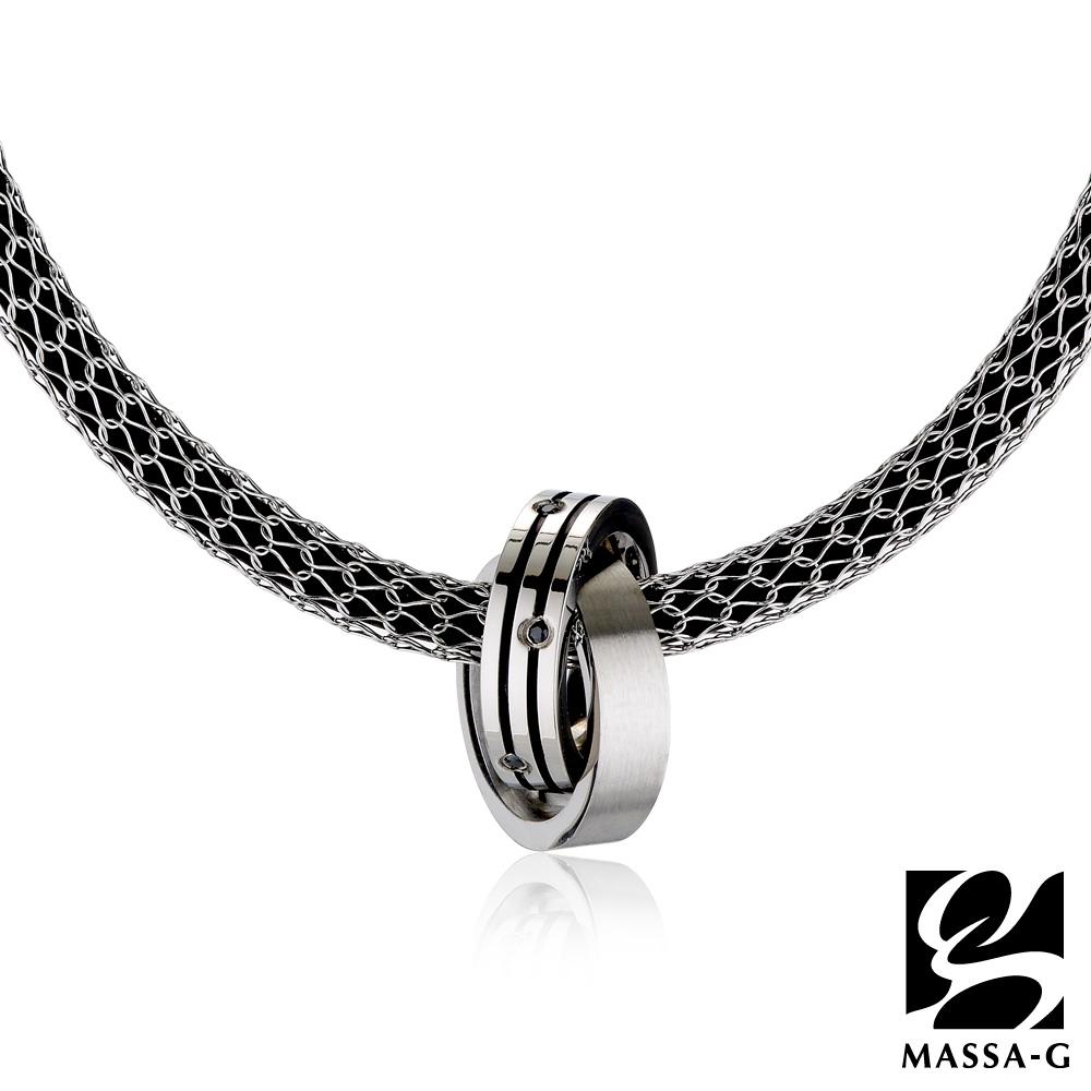 MASSA-G【黑主義】搭配X1 4mm合金鍺鈦項鍊