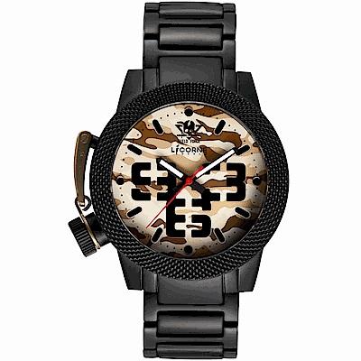 LICORNE 特種部隊MKII系列帥氣迷彩手錶 -沙漠棕/45mm