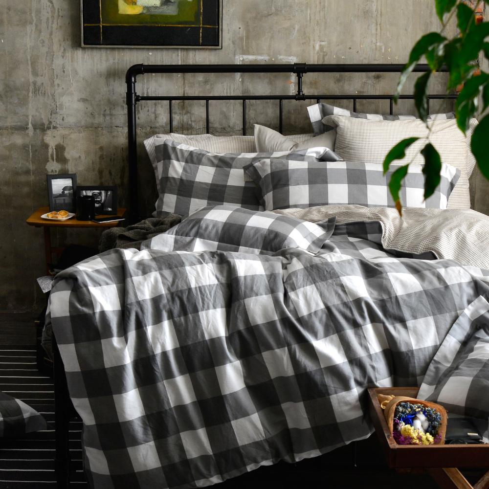義大利La Belle 雙人水洗棉防蹣抗菌吸濕排汗兩用被床包組-品味人生