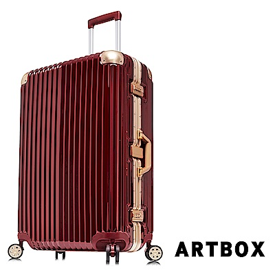 【ARTBOX】超次元 29吋PC鏡面鋁框行李箱(鋼鐵紅)