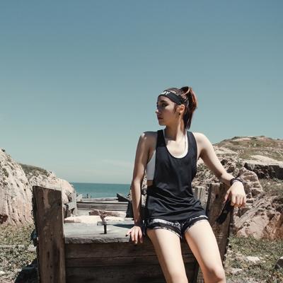 Biki比基尼妮泳衣  後工字寬鬆性感運動風泳衣罩衫(單上衣)