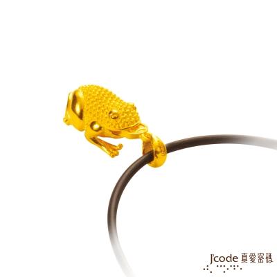J'code真愛密碼 咬錢蟾蜍黃金墜子 送項鍊