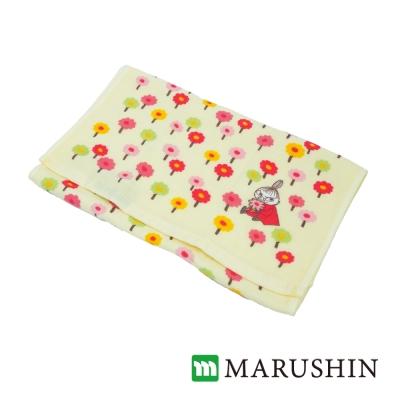 日本丸真Moomin今治紗布臉巾/毛巾-小不點與花