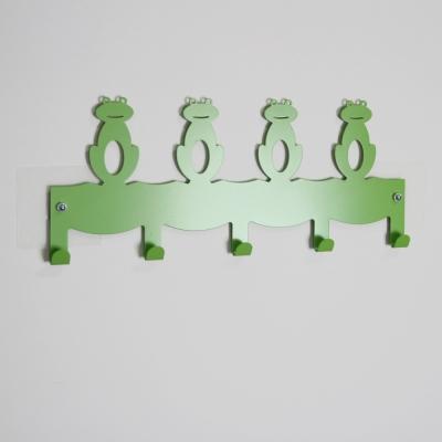 Wisdom (SKY HOOK 系列)無痕鎖壁掛鉤-青蛙造型5鉤(2入)