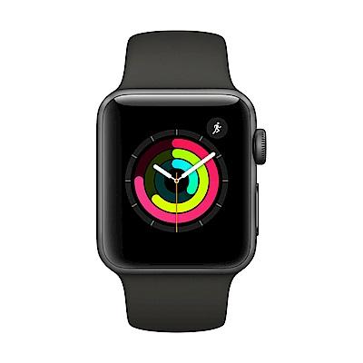 Apple Watch Series 3 GPS,38mm太空色鋁金屬錶殼/灰色運動錶帶