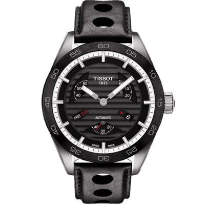 TISSOT PRS516小秒針賽車元素機械腕錶-黑42mm