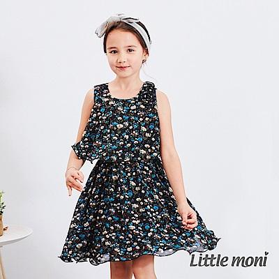 Little moni 印花背心洋裝 (2色可選)