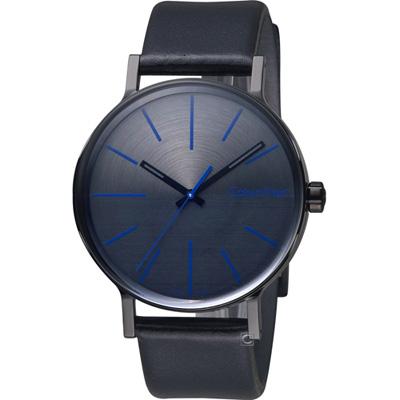 Calvin Klein Mens Boost  鼓動系列時尚腕錶-黑x藍/41mm
