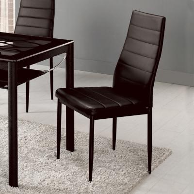 Bernice-西里爾簡約皮革高背餐椅/單椅(兩色)-41x50x98cm