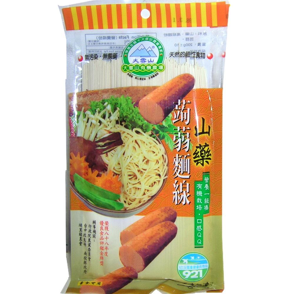 大雪山農場 山藥蒟蒻麵線(6包)