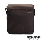 AOKANA 俐落輕巧Layers系列 輕旅防盜防潑水 中型直立式背包(咖啡)02-042