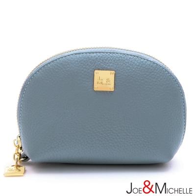 J&M 真皮莉絲貝殼手拿零錢包  微風藍
