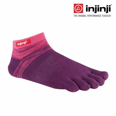 【Injinji】Sport 多功能吸排五趾踝襪-石榴紅