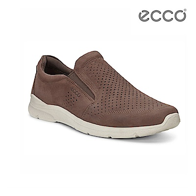 ECCO IRVING 低調質感休閒鞋-咖