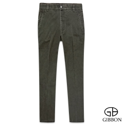 GIBBON 彈力斜紋平口休閒褲‧橄欖綠30~42