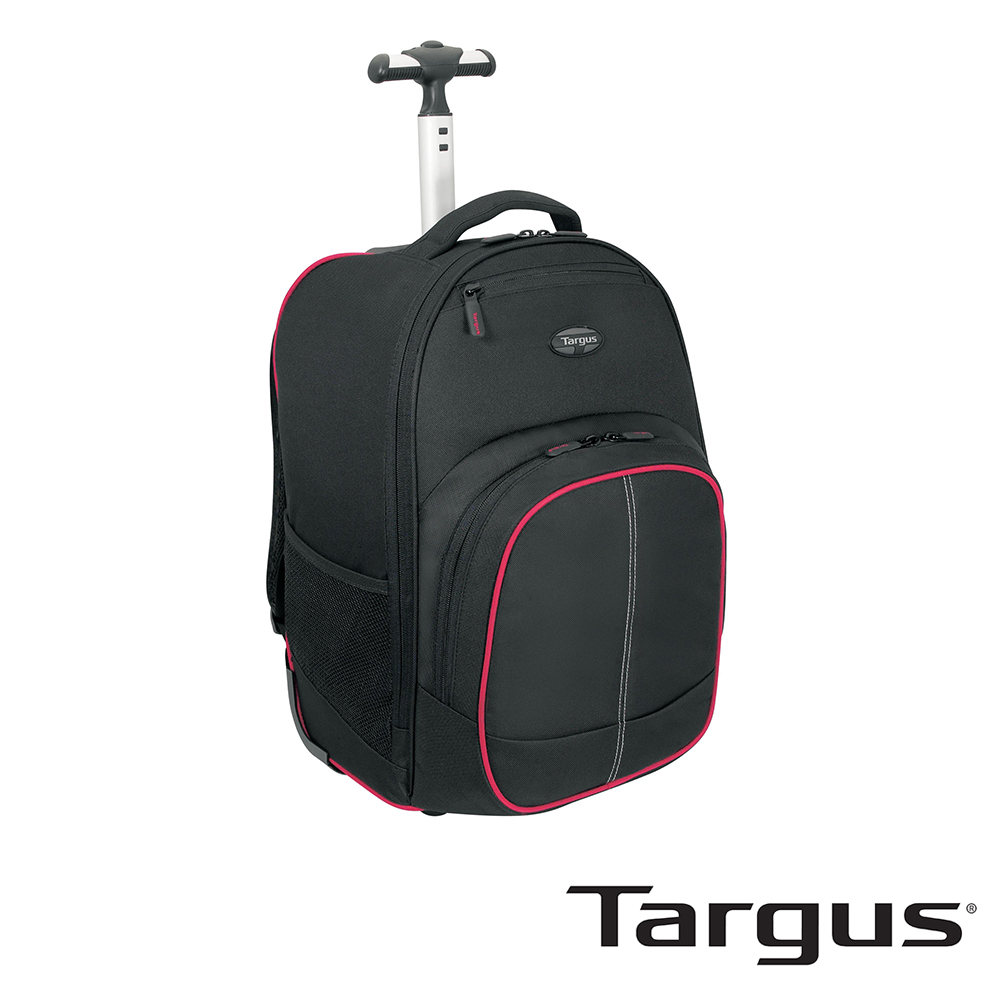 Targus Compact 16 吋拉桿電腦後背包-黑紅款