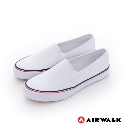 AIRWALK(女) - 小藍標 經典百搭基本直套懶人休閒鞋-白