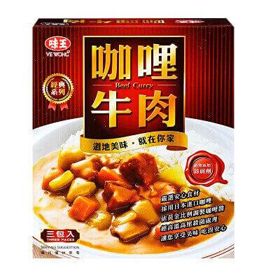 味王 咖哩牛肉調理包(200gx3入)
