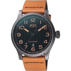 MIDO美度 先鋒系列 Escape 復刻Horween特別版機械錶-44mm