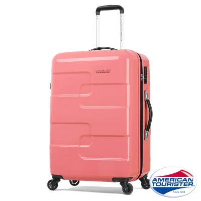 AT美國旅行者-27吋立體拼圖硬殼四輪行李箱粉