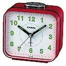 CASIO桌上型指針方形鬧鐘(TQ-328-4)-紅x白面