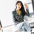 燈心絨質感花朵/蘑菇印花襯衫.2色-OB大尺碼