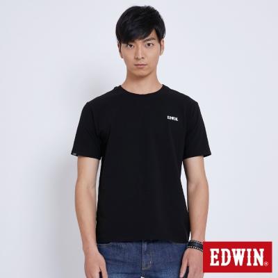 EDWIN 基本LOGO搭配短袖T恤-男-黑色