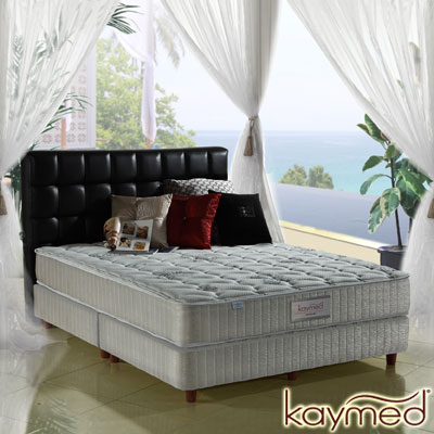 Kaymed Coolfoam自然感 二線高澎度免翻面乳膠+記憶膠彈簧床墊 雙人加大6尺