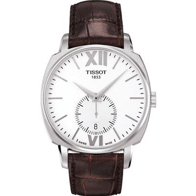 TISSOT T-Lord 都會紳士小秒針機械腕表-咖啡/40mm