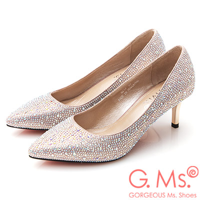 G.Ms. 花嫁系列-尖頭貼鑽新娘鞋-粉紅
