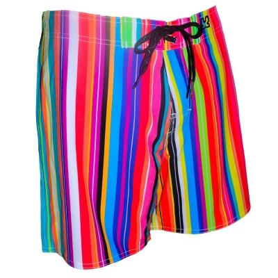 WAXX 直條紋光譜高質感吸濕排汗男性海灘褲