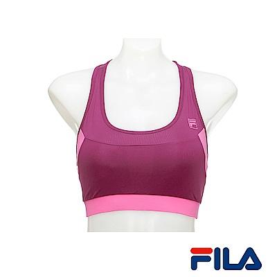 FILA女性單穿網紗背心(紫紅)5TKR-1609-RP