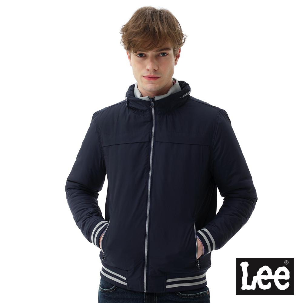Lee 連帽可收式舖棉外套/RG-男款-藍色