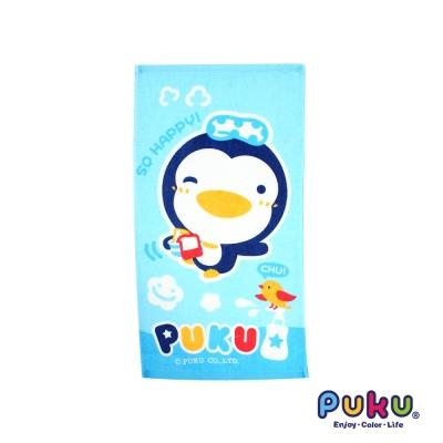 PUKU藍色企鵝 長方毛巾~45~30cm